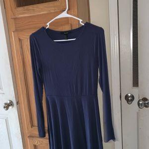 Forever 21 navy LS dress